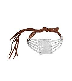 Robert Lee Morris Soho™ Sculptural Rectangle Adjustable Suede Choker Necklace
