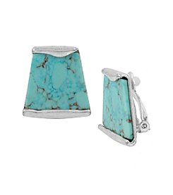 Robert Lee Morris Soho™ Semiprecious Turquoise Stone Geometric Clip-On Earrings