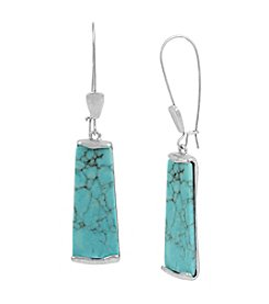 Robert Lee Morris Soho™ Semiprecious Turquoise Stone Long Drop Earrings
