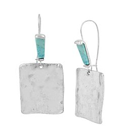 Robert Lee Morris Soho™ Sculptural Square Long Drop Earrings