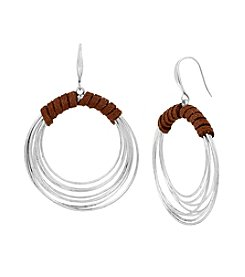 Robert Lee Morris Soho™ Suede Wrapped Multi Row Hoop Earrings