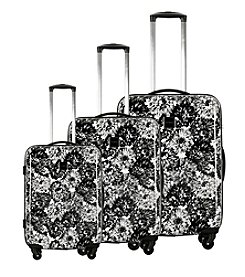 Isaac Mizrahi® Boldon Hardside Black Luggage Collection
