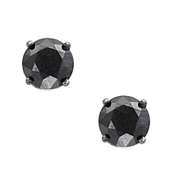 Effy® 14K White Gold Black Diamond Earrings