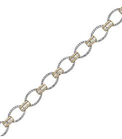 Effy® 14K White And Yellow Gold Diamond Tennis Bracelet