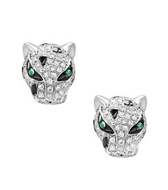 Effy® 14K White Gold Diamond And Tsavorite Earrings
