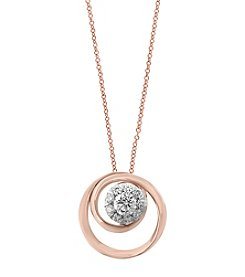Effy® 14K Rose Gold .24 ct t.w. Diamond Pendant