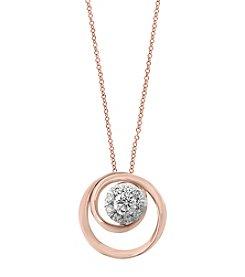 Effy® 14K Rose Gold .24 ct t.w. Diamond Pendant