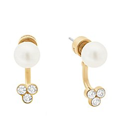 Michael Kors® Front Back Glass Pearl Stud Earrings