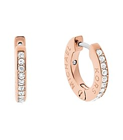 Michael Kors® Pave Accented Hoop Earrings