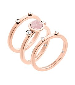 Michael Kors® Rose Goldtone Band Rings