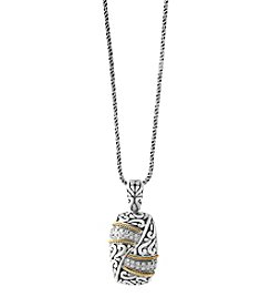 Effy® Sterling Silver And 18K Yellow Gold Diamond Pendant