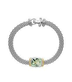 Effy® Sterling Silver And 18K Yellow Gold Green Amethyst Tennis Bracelet