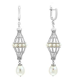 Effy® Sterling Silver Cultured Fresh Water Pearl Earrings