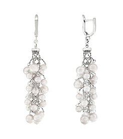 Effy® Sterling Silver Cultured Fresh Water Pearls Earrings