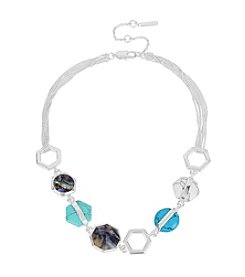 Kenneth Cole® Mixed Geometric Semiprecious Stone Frontal Necklace