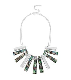Kenneth Cole® Geometric Abalone Stick Frontal Necklace