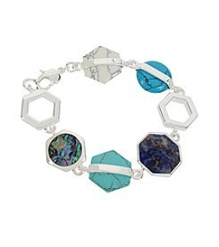 Kenneth Cole® Mixed Geometric Semiprecious Stone Bracelet