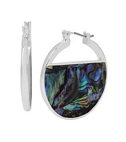 Kenneth Cole® Geometric Abalone Hoop Earrings