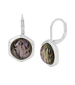 Kenneth Cole® Geometric Abalone Stone Drop Earrings