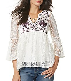 Vintage America Blues™ Embroidered Sheer Top