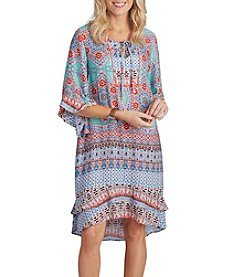 Democracy Embroidered Yoke Tie Dress