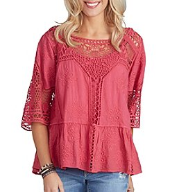 Democracy Crochet Flounce Top
