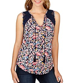 Lucky Brand® Floral Shell Top