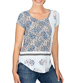 Lucky Brand® Paisley Mix Tee