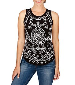 Lucky Brand® Embroidered Eyelet Tank