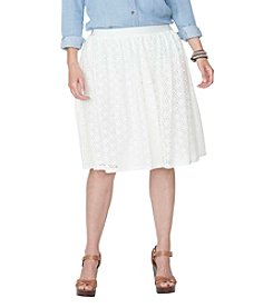Chaps® Plus Size Cotton Lace Skirt