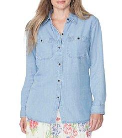 Chaps® Plus Size Chambray Button-Up Shirt