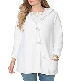 Chaps® Plus Size Hooded Cotton Cardigan