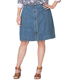 Chaps® Plus Size A-Line Denim Skirt