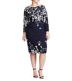 Chaps® Plus Size Falling Flowers Dress