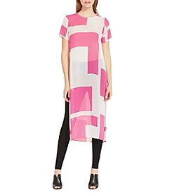 Vince Camuto™ Grid Long Tunic