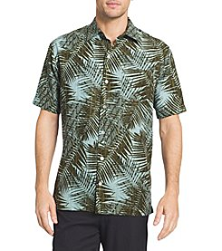 Van Heusen® Men's Big & Tall Short Sleeve Oasis Palm Button Down Shirt