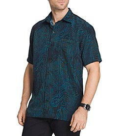 Van Heusen® Men's Big & Tall Short Sleeve Oasis Button Down Shirt
