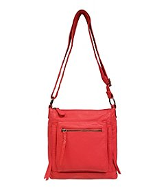 GAL Lizard Embossed Washed Multi Pocket Crossbody With Organzier