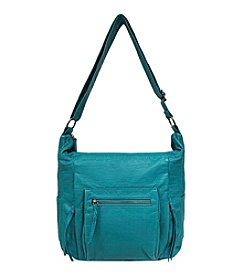 GAL Lizard Embossed Washed Multi Pocket Crossbody