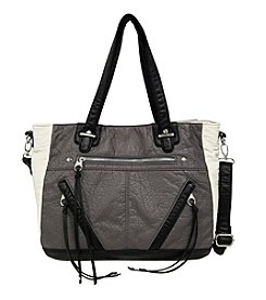 GAL Colorblocked Pebble Washed Satchel