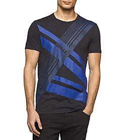 Calvin Klein Men's Race Stripe Geo Graphic Tee
