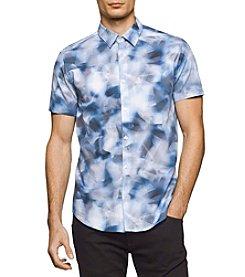 Calvin Klein Men's Short Sleeve Mesh Print Shirt