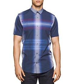 Calvin Klein Men's Short Sleeve Large Scale Button Down Shirt