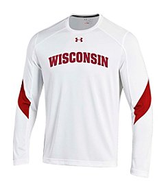 Under Armour® Men's Wisconsin Badger Contrast Logo Long Sleeve Tee