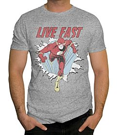 Changes Men's The Flash Live Fast Graphic Tee