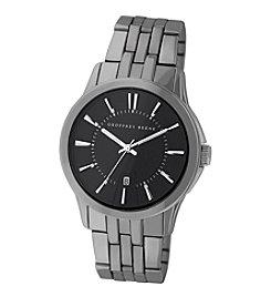 Geoffrey Beene Gunmetal Tone Watch