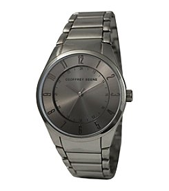 Geoffrey Beene Slim Gunmetal Tone Watch