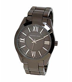 Geoffrey Beene Gunmetal Tone Textured Dial Watch