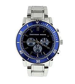 Geoffrey Beene Navy Aluminum Sport Bezel Watch