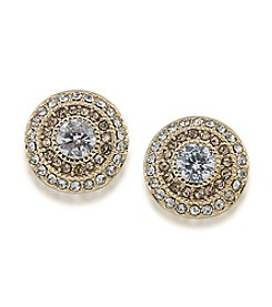 Lauren Ralph Lauren Spring '17 Bridal Gold and Topaz Crystal Vintage Clip-On Stud Earrings